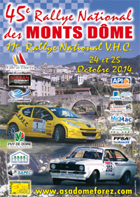 Rallye national des Monts Dôme 2014